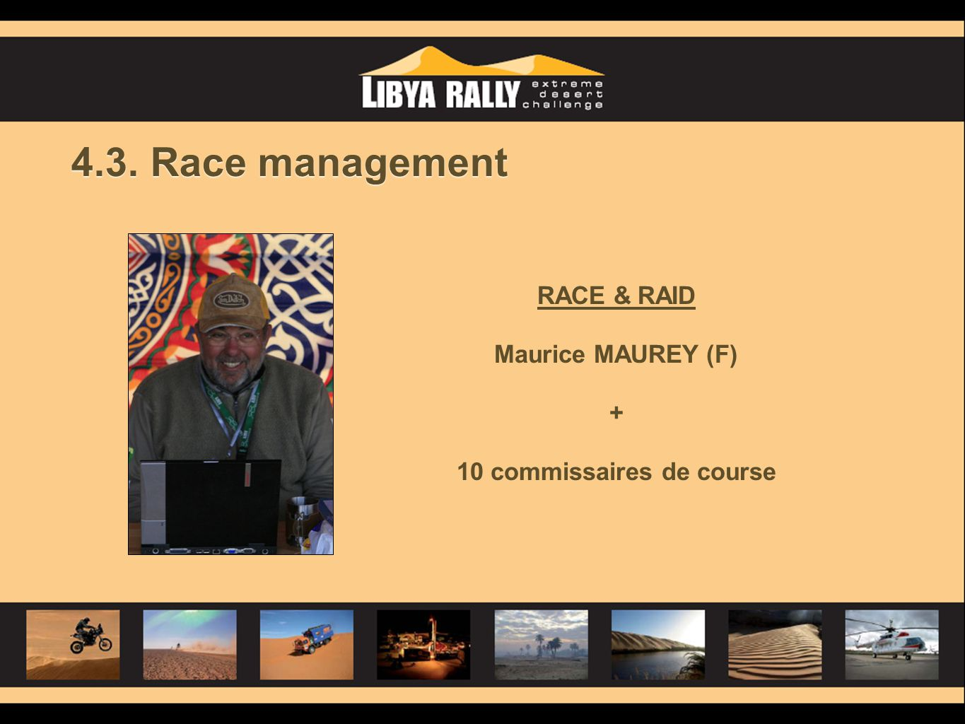4.3. Race management RACE & RAID Maurice MAUREY (F) + 10 commissaires de course