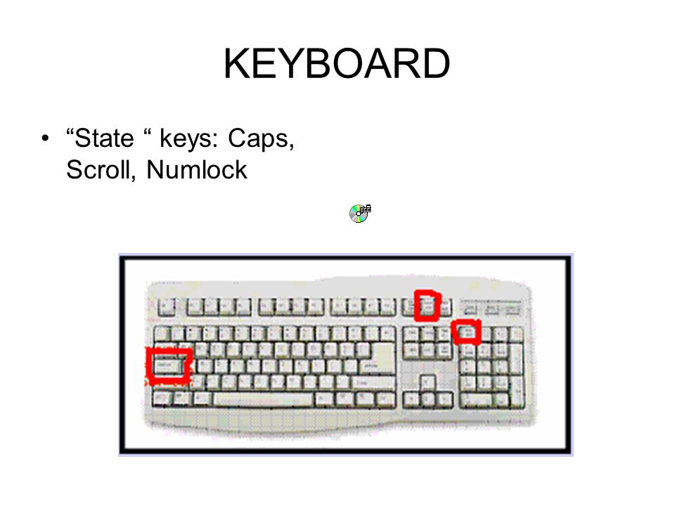 KEYBOARD Modifier keys: CTRL, ALT, SHIFT
