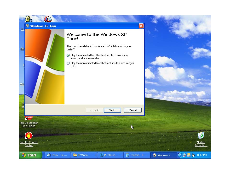 AN INTRODUCTION to WINDOWS XP This is the operating system most of us will be using