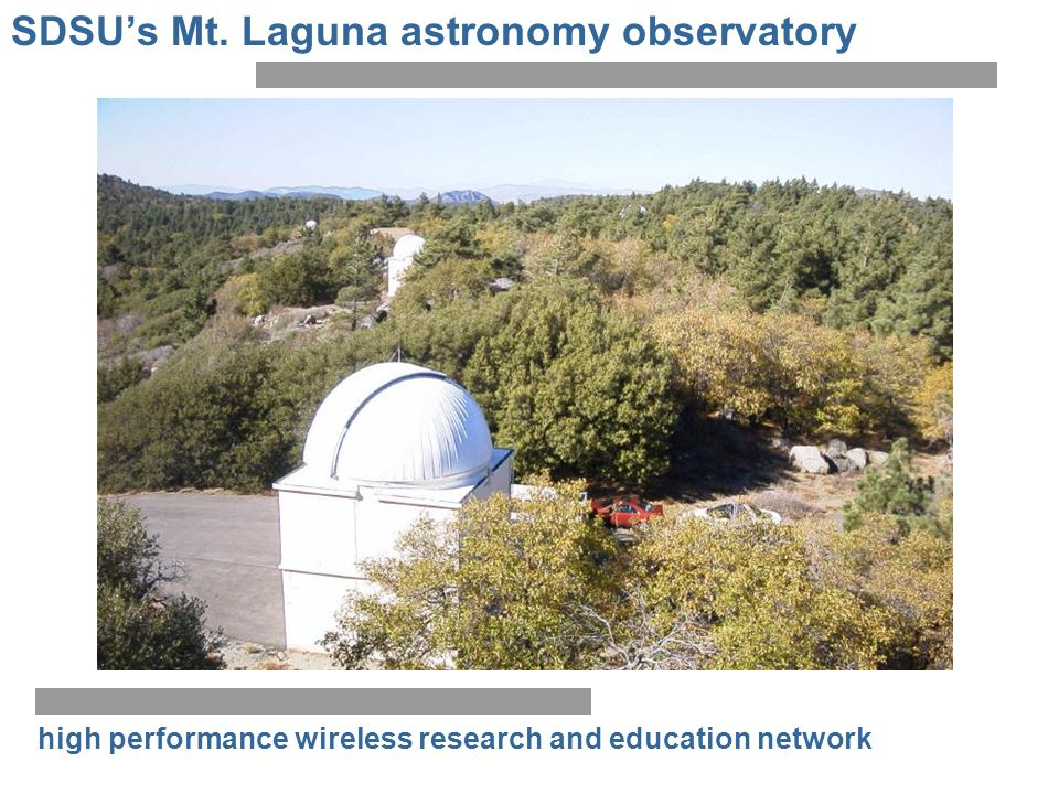 high performance wireless research and education network SDSUs Mt. Laguna astronomy observatory