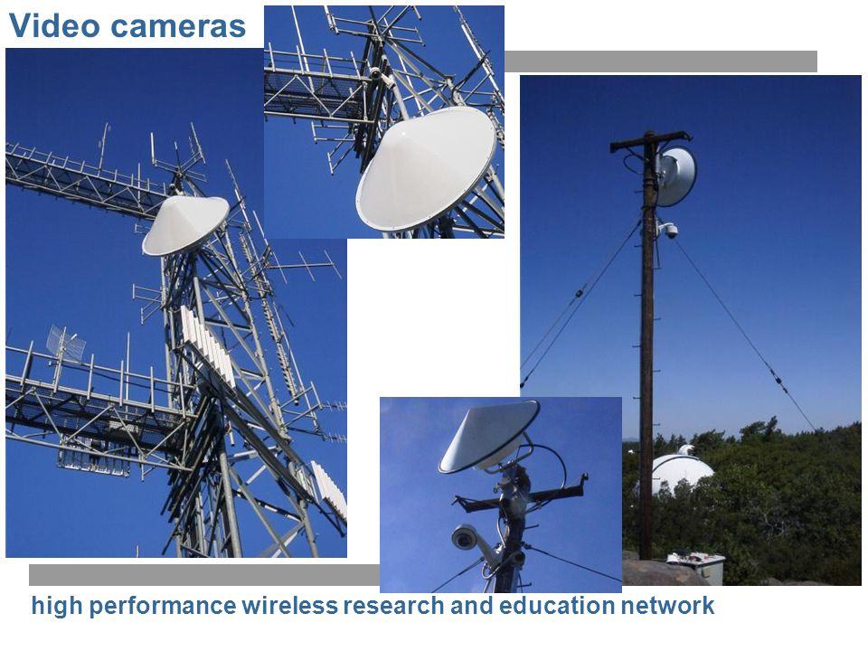 high performance wireless research and education network Video cameras