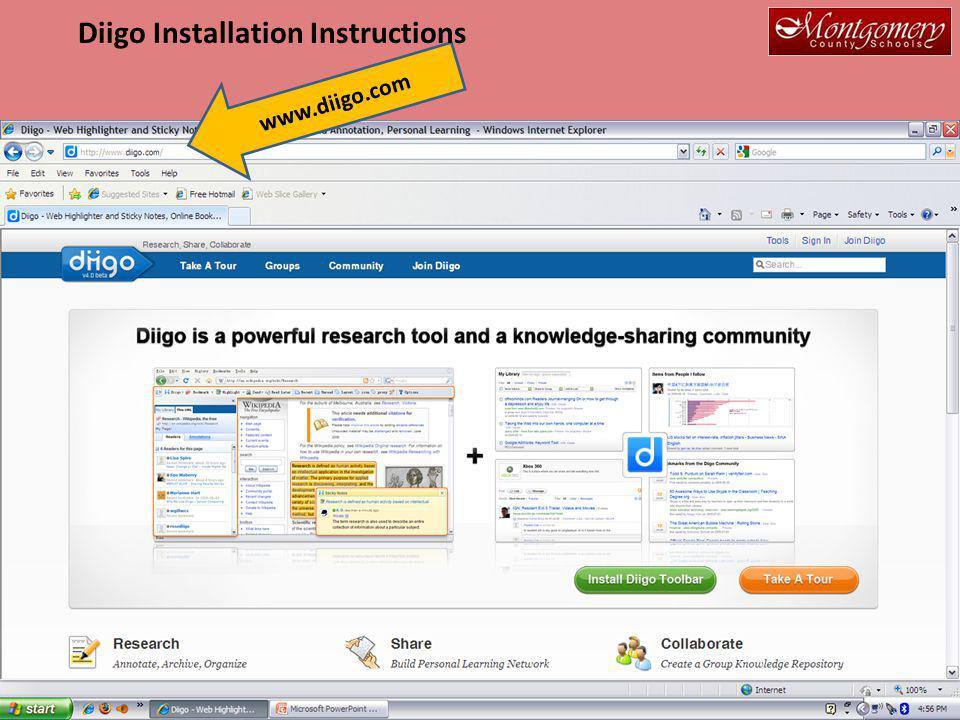 www.diigo.com Diigo Installation Instructions