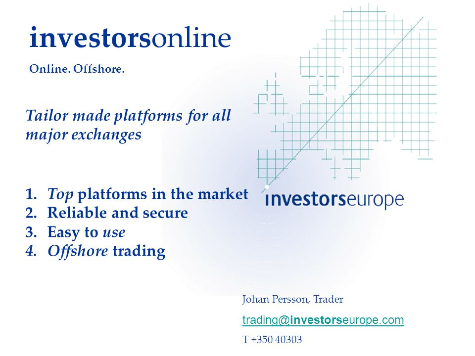 investorsonline Online. Offshore. 1. Top platforms in the market 2.