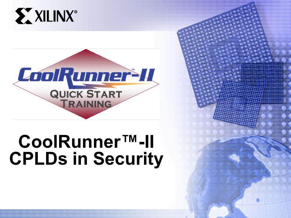CoolRunner-II CPLDs in Security
