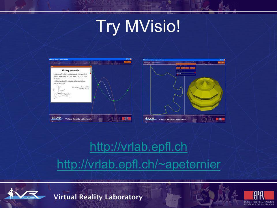Try MVisio! http://vrlab.epfl.ch http://vrlab.epfl.ch/~apeternier