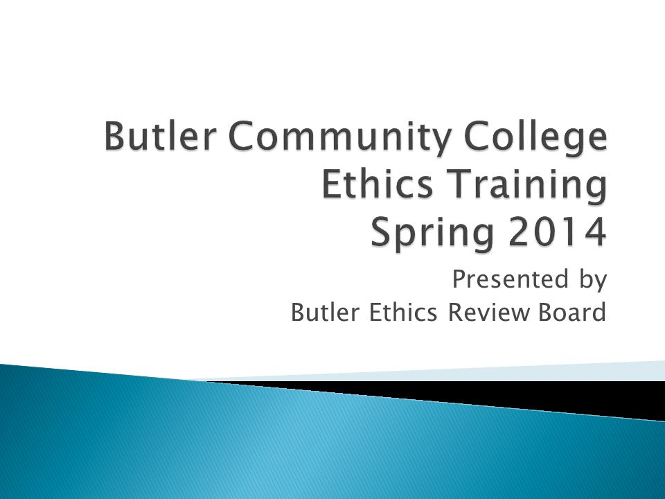 A code of values which guides our choices and actions and determines the conduct by which we live Butler employees play a critical role in assuring high standards of ethical practice The employees personal and professional conduct reflects on Butler and higher education at large