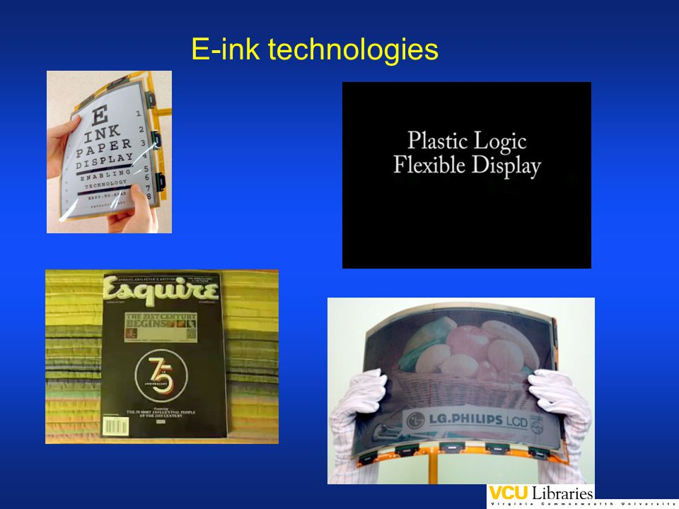 E-ink technologies