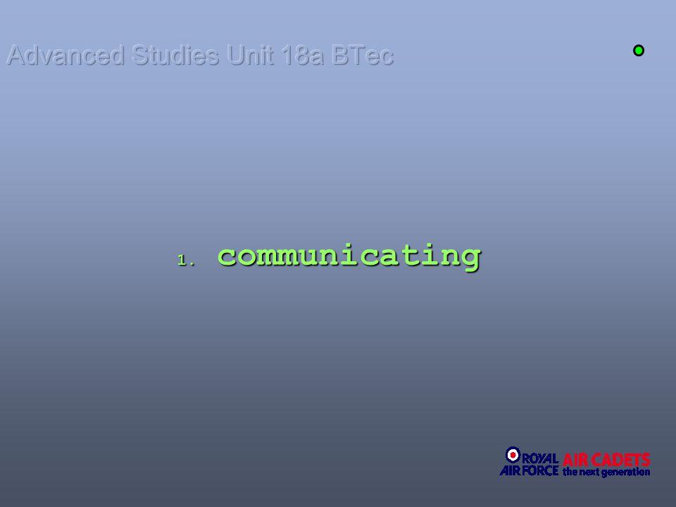 1. communicating