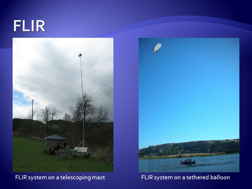FLIR system on a telescoping mastFLIR system on a tethered balloon