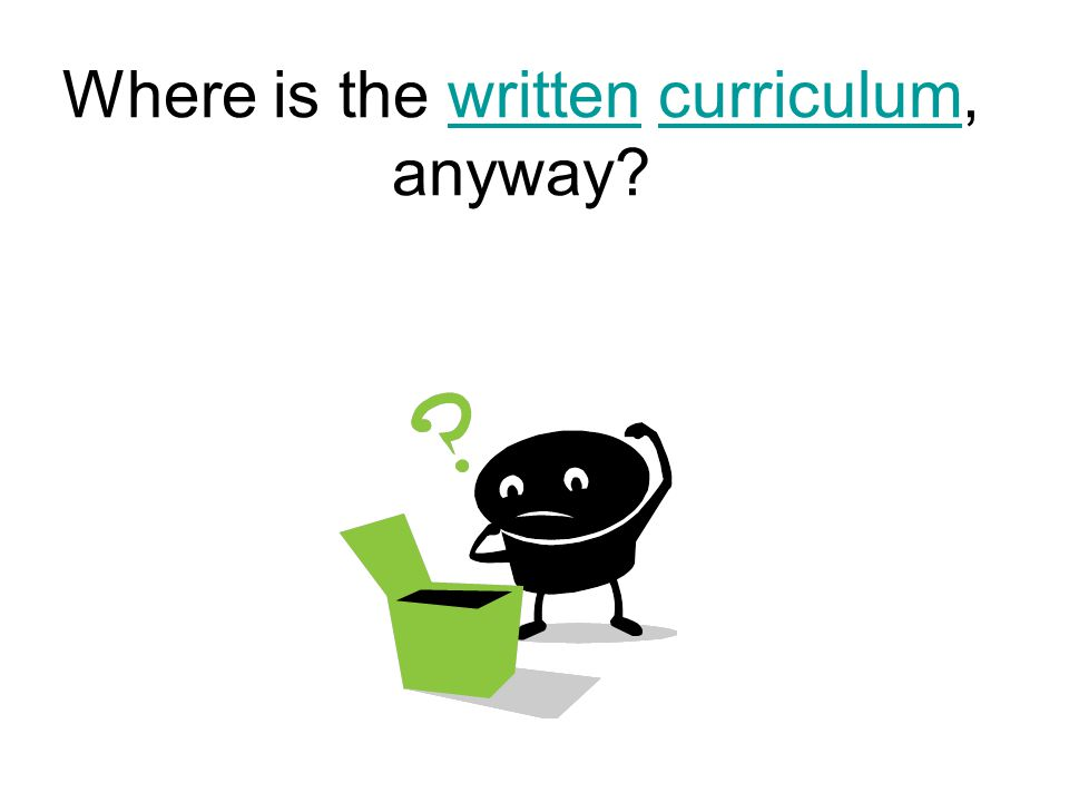 Where is the written curriculum, anyway?writtencurriculum