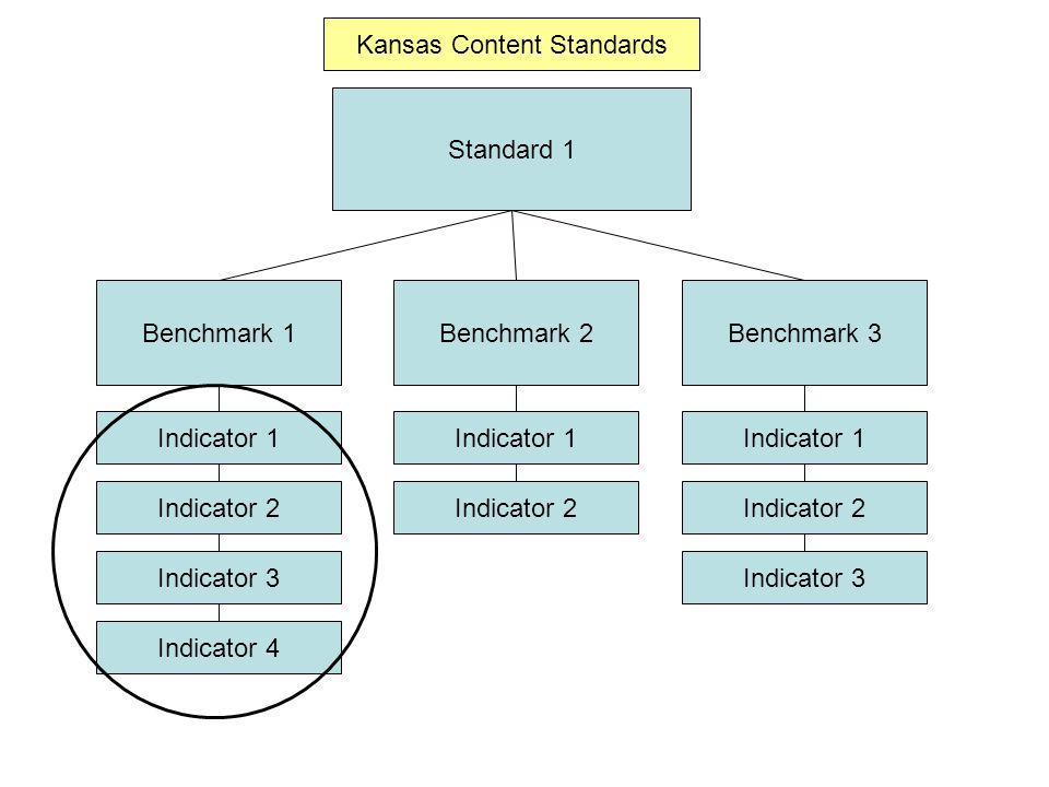 Standard 1 Benchmark 1Benchmark 2Benchmark 3 Indicator 1 Indicator 4 Indicator 3 Indicator 2 Indicator 1 Indicator 2 Indicator 1 Indicator 2 Indicator