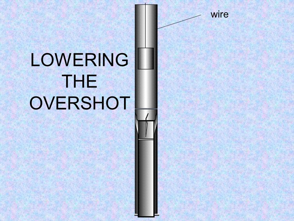 OVERSHOT INSERTING THE OVERSHOT