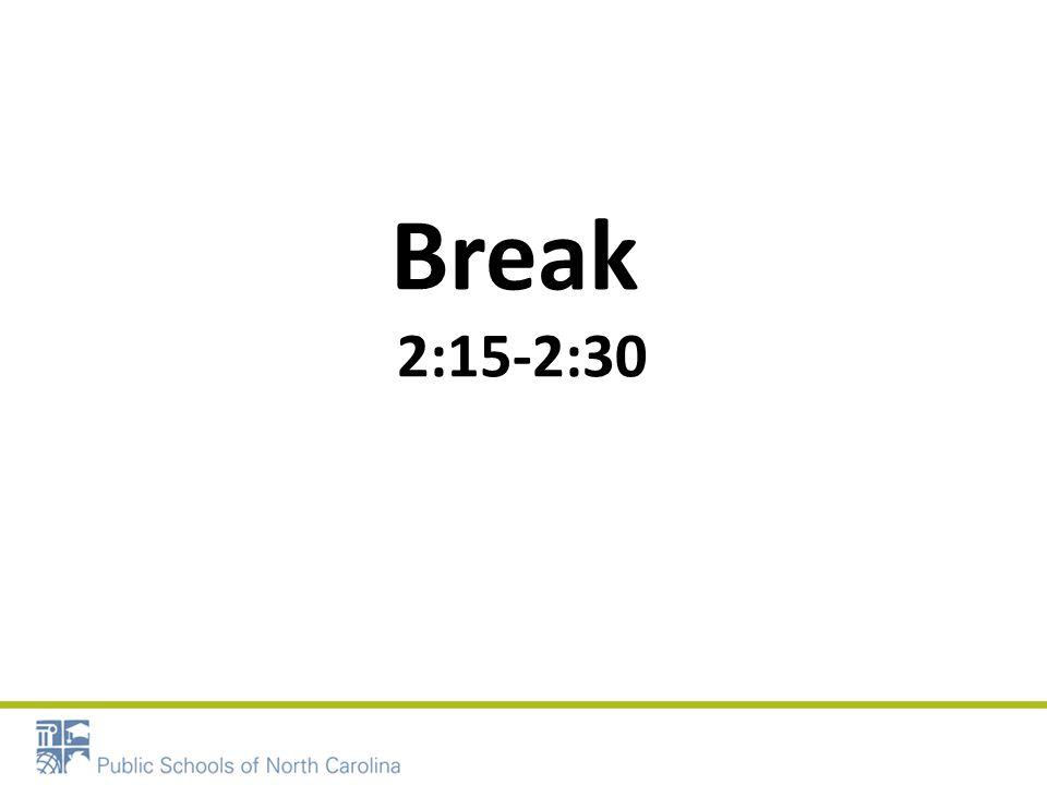 Break 2:15-2:30