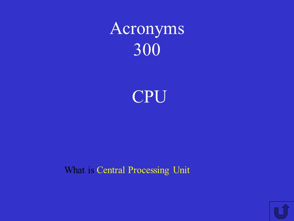 Acronyms 200 What is Universal Serial Bus USB