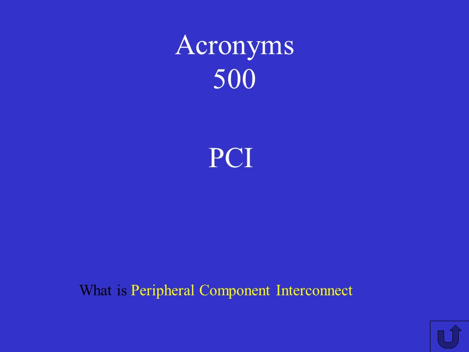 Acronyms 400 What is Advanced Configuration and Power Interface ACPI