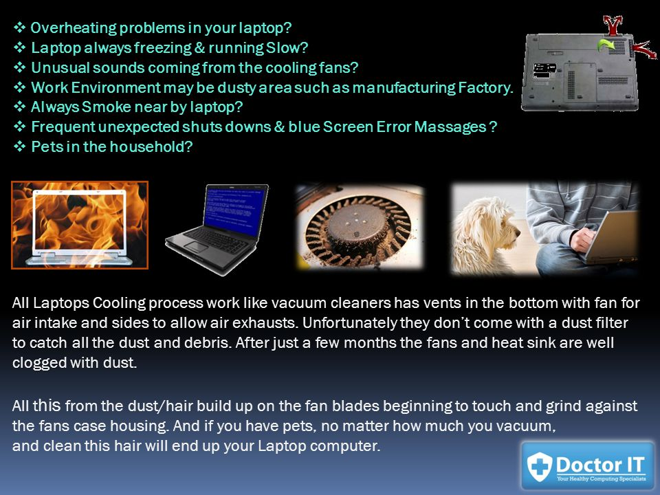 Overheating problems in your laptop. Overheating problems in your laptop.