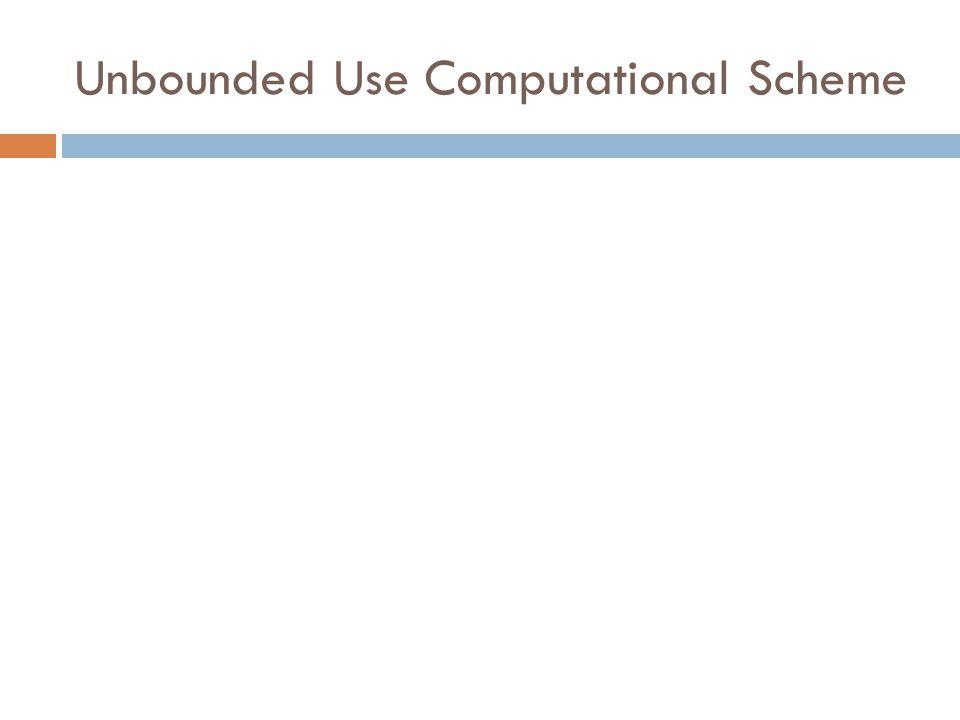 Unbounded Use Computational Scheme