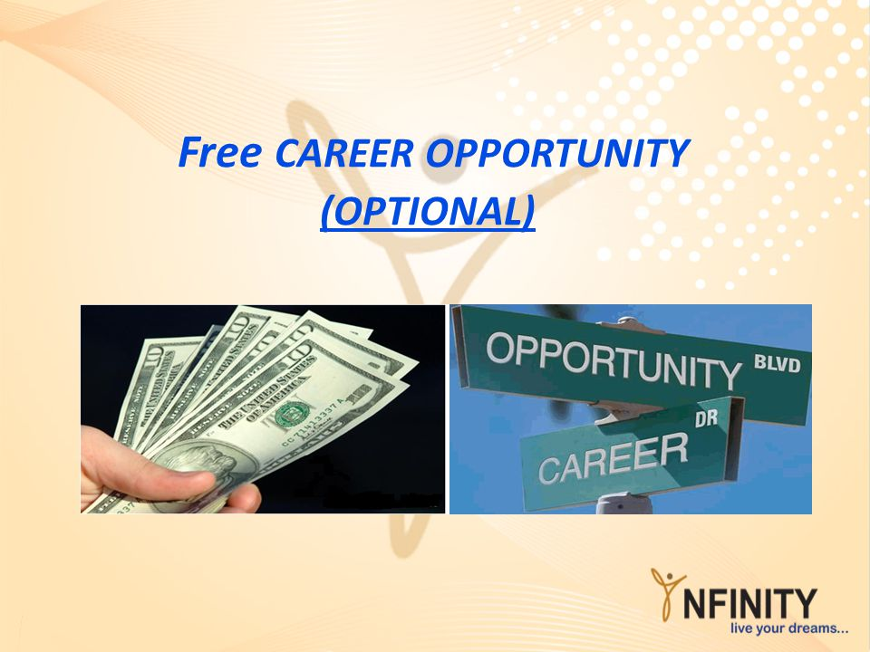 Free CAREER OPPORTUNITY (OPTIONAL)