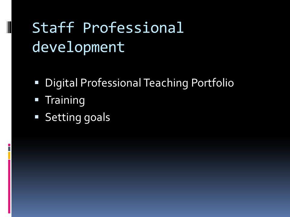 Staff Professional development Digital Professional Teaching Portfolio Training Setting goals