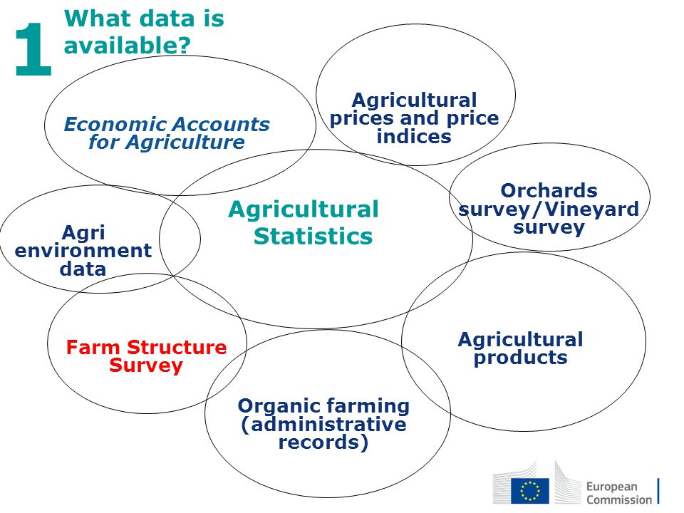 Agricultural Statistics 3 What data is available? 1 Farm Structure Survey Agricultural prices and price indices Orchards survey/Vineyard survey Agricu