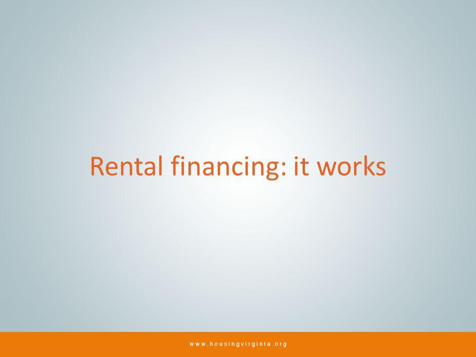 Rental financing: it works