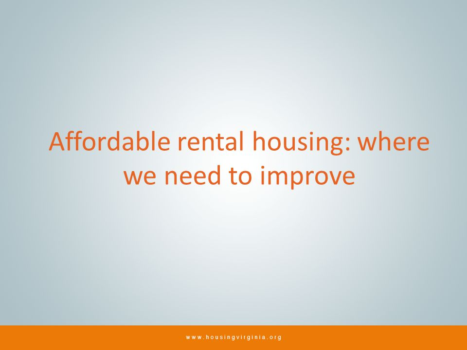 Affordable rental housing: where we need to improve