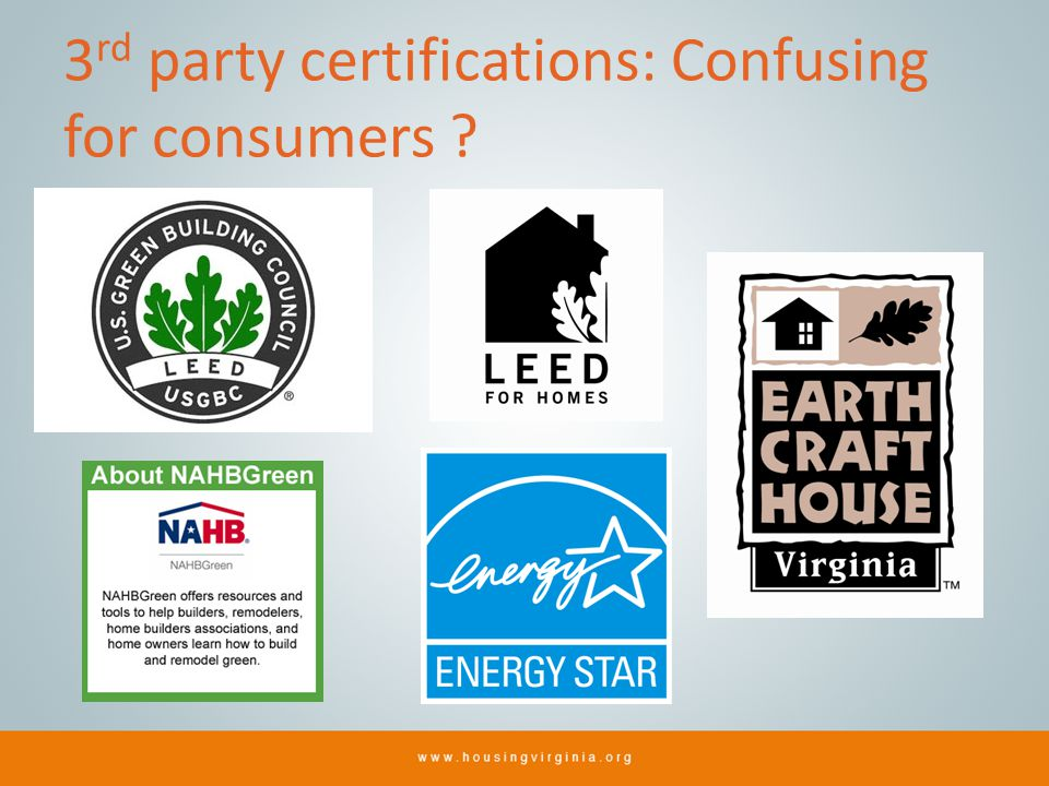 3 rd party certifications: Confusing for consumers