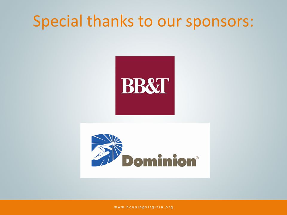 Special thanks to our sponsors: