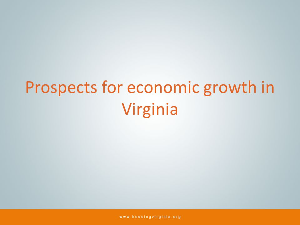 Prospects for economic growth in Virginia