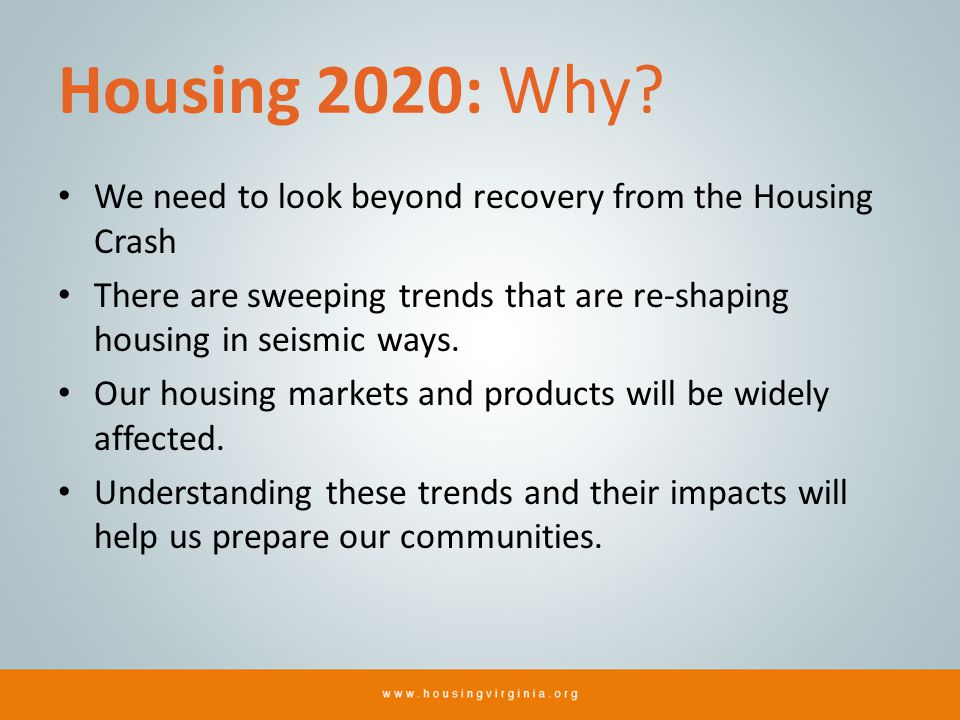 Housing 2020: Why.