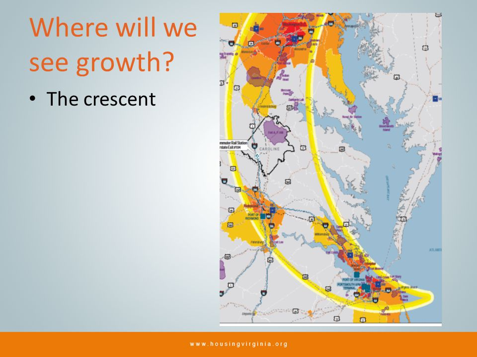 Where will we see growth The crescent