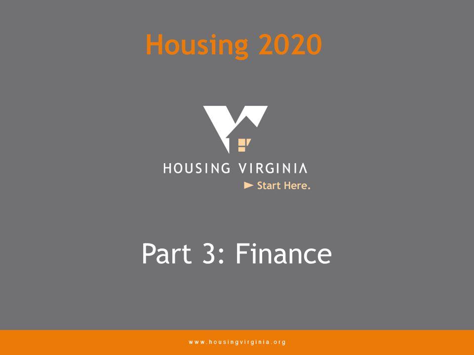 Part 3: Finance Housing 2020