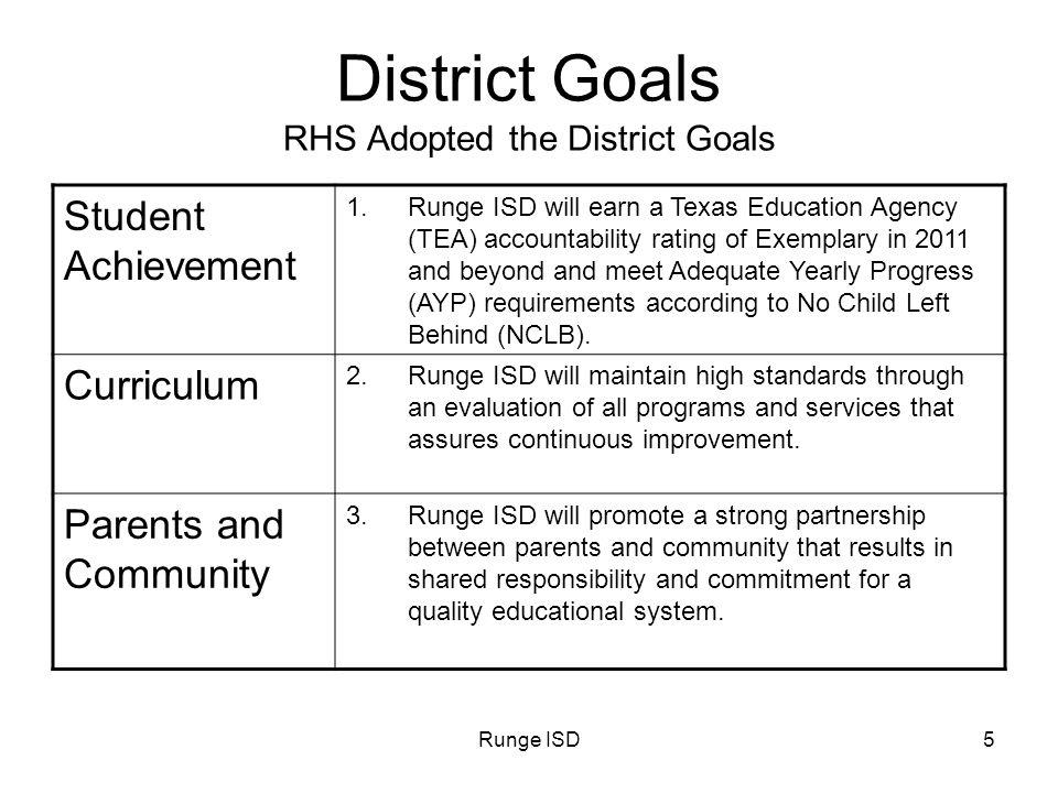 Runge ISD6 District Goals Personnel 4.