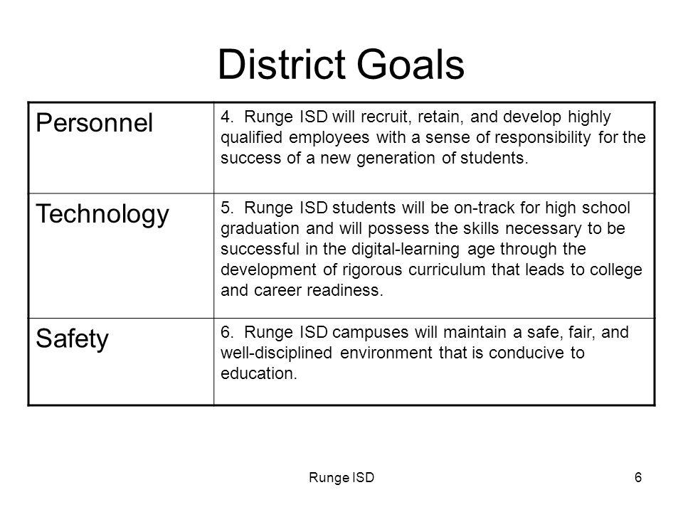Runge ISD7 District Goals Facilities 7.