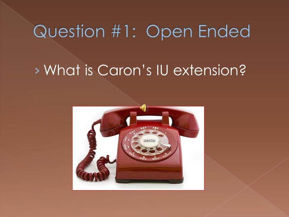 What is Carons IU extension?