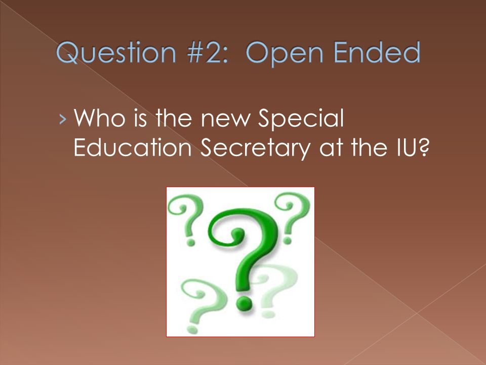 Who is the new Special Education Secretary at the IU?