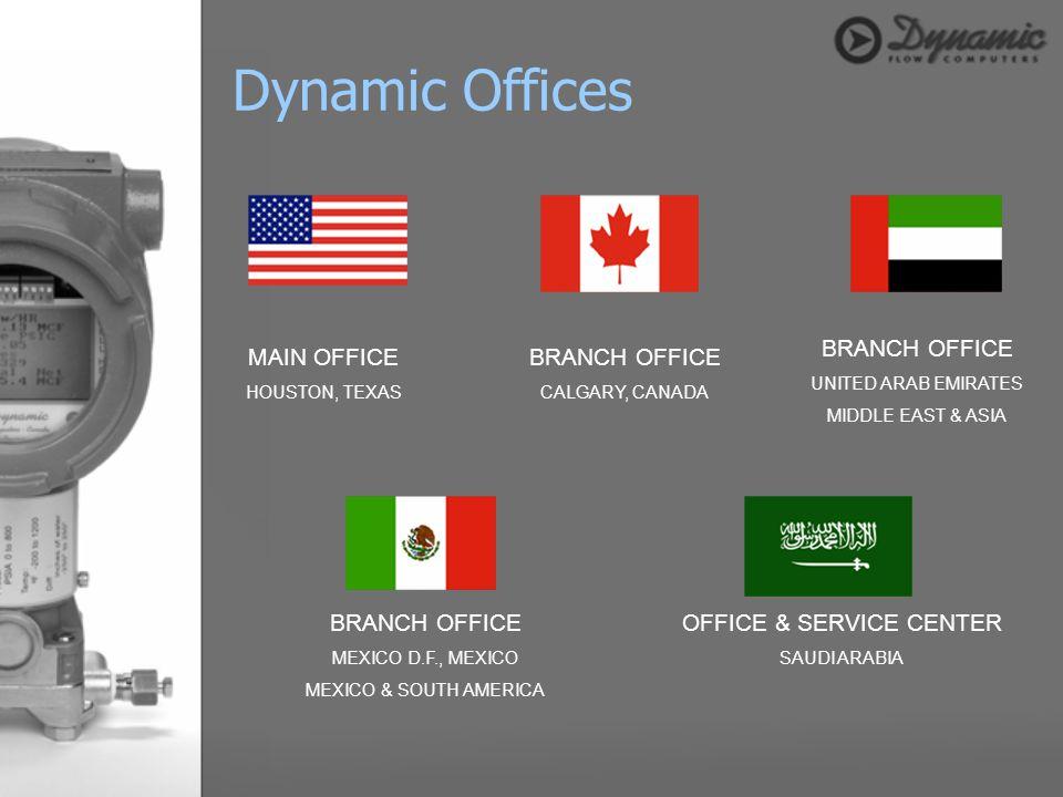 MAIN OFFICE HOUSTON, TEXAS BRANCH OFFICE CALGARY, CANADA BRANCH OFFICE UNITED ARAB EMIRATES MIDDLE EAST & ASIA BRANCH OFFICE MEXICO D.F., MEXICO MEXIC