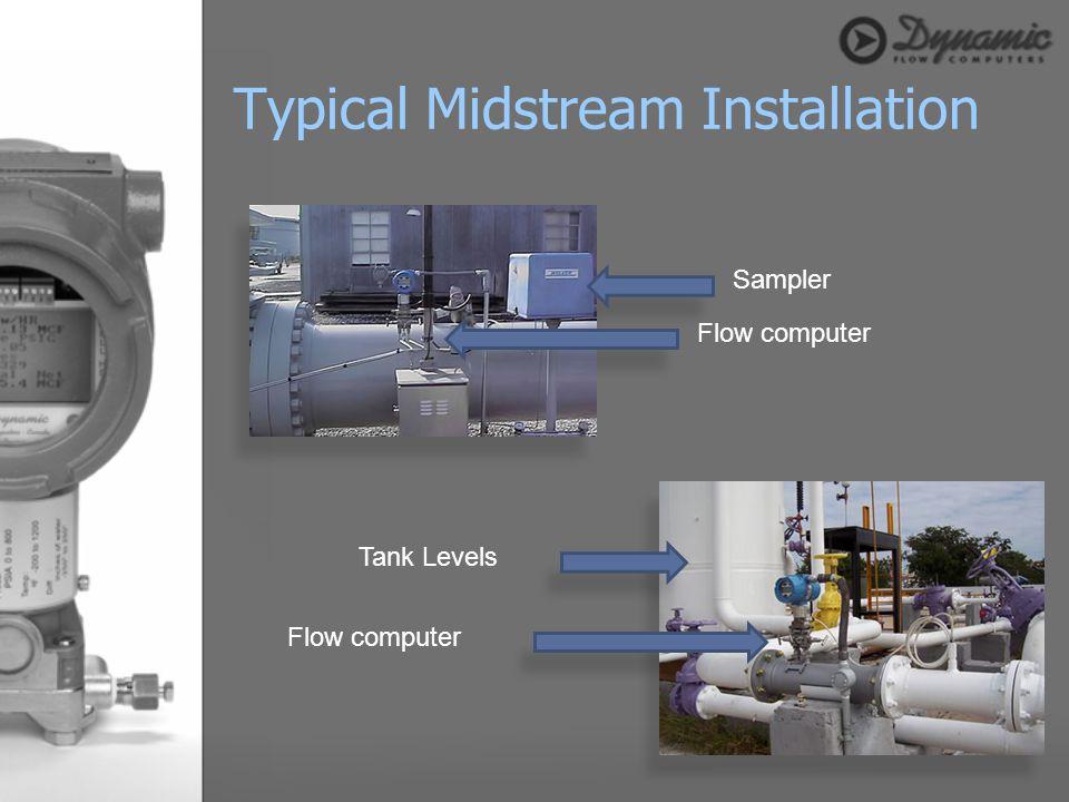 Typical Midstream Installation Flow computer Sampler Tank Levels Flow computer