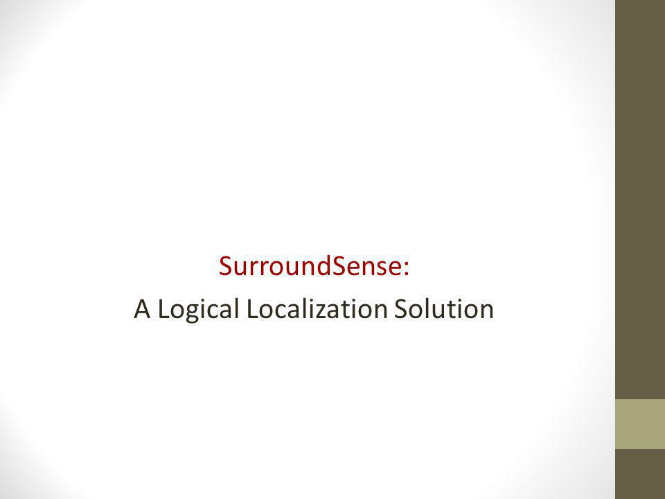 SurroundSense: A Logical Localization Solution