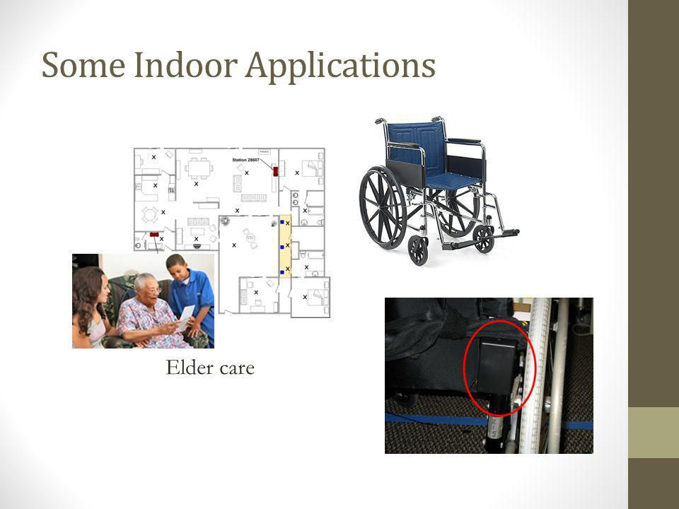 Some Indoor Applications Elder care