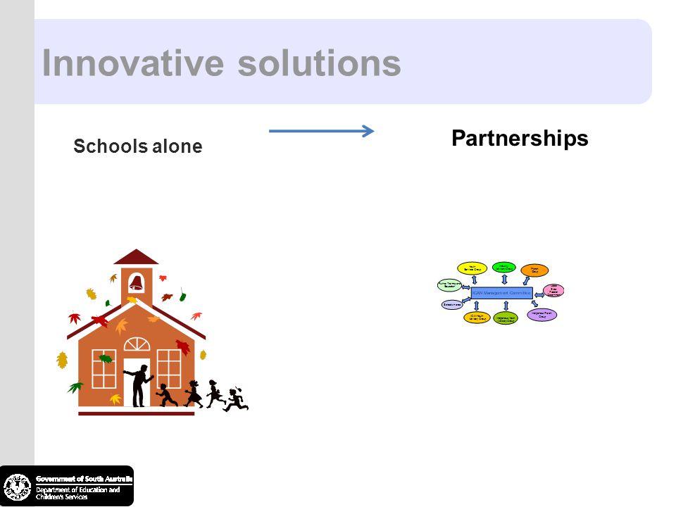 Innovative solutions Schools alone Partnerships