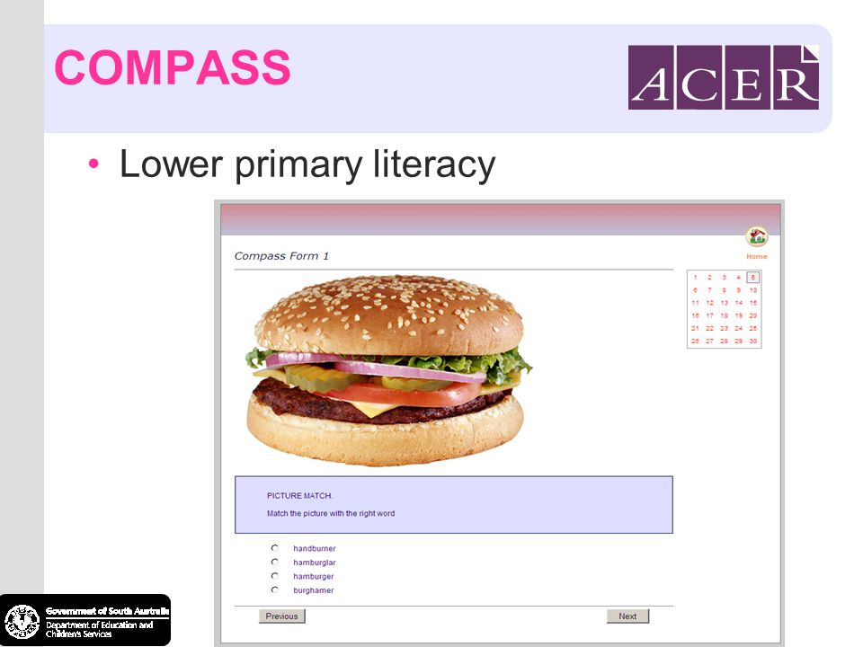 COMPASS Lower primary literacy