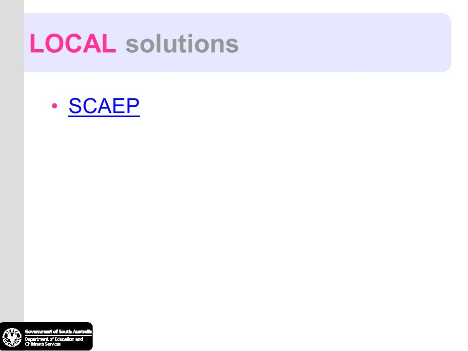 SCAEP LOCAL solutions