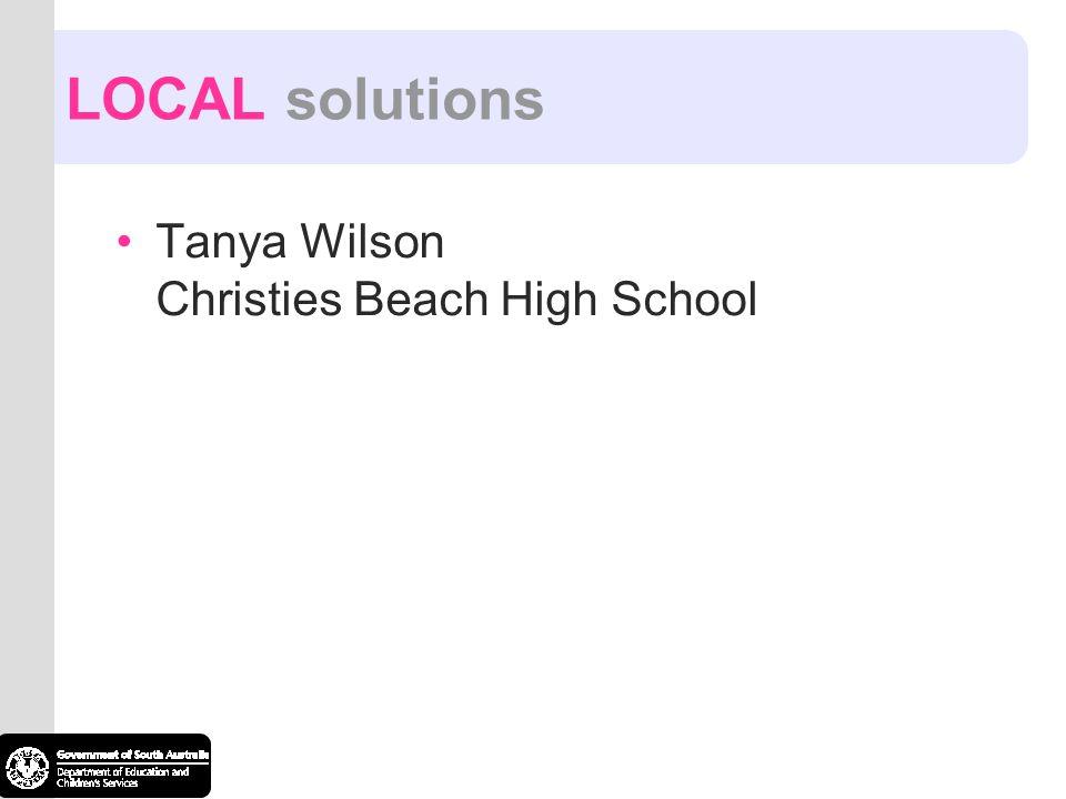 Tanya Wilson Christies Beach High School