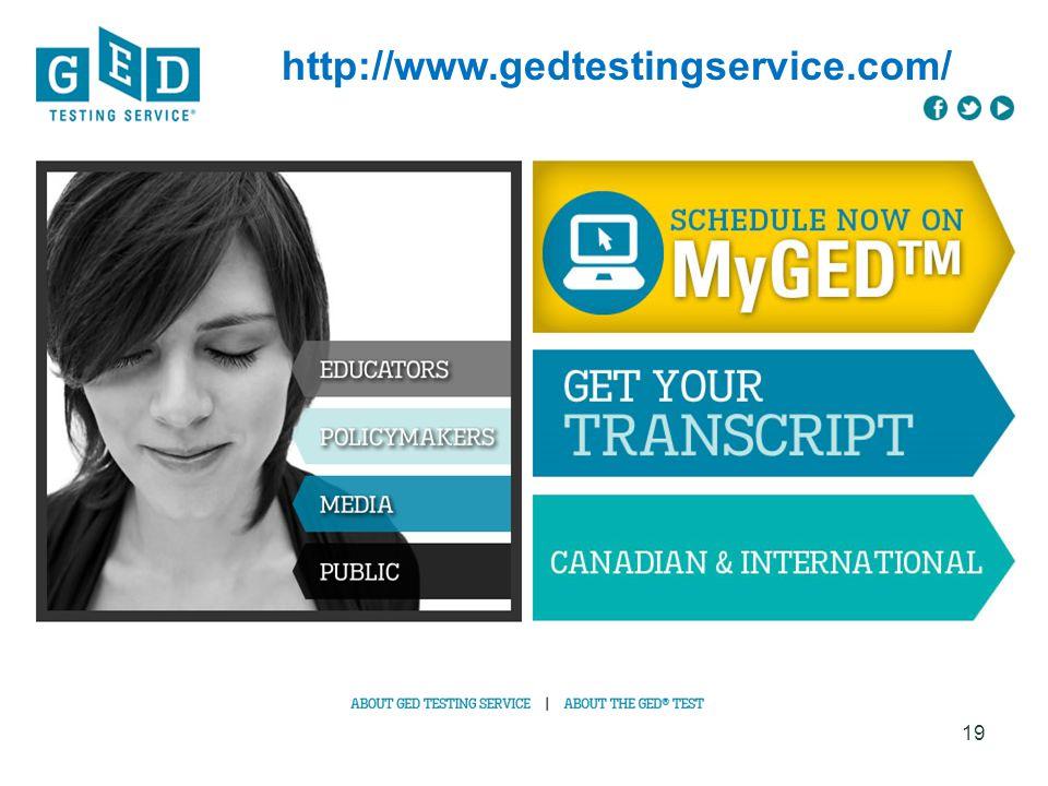 http://www.gedtestingservice.com/ 19