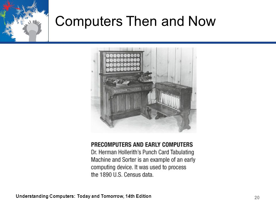 Computers Then and Now Understanding Computers: Today and Tomorrow, 14th Edition 20