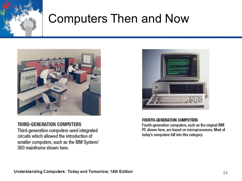 Computers Then and Now Understanding Computers: Today and Tomorrow, 14th Edition 24