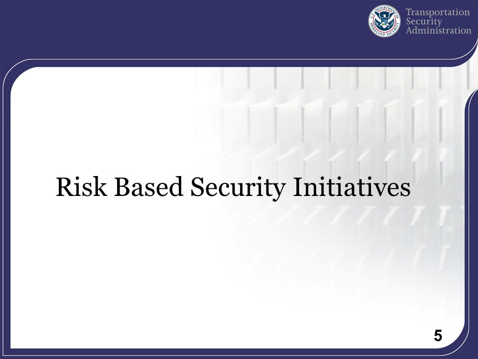 5 Risk Based Security Initiatives