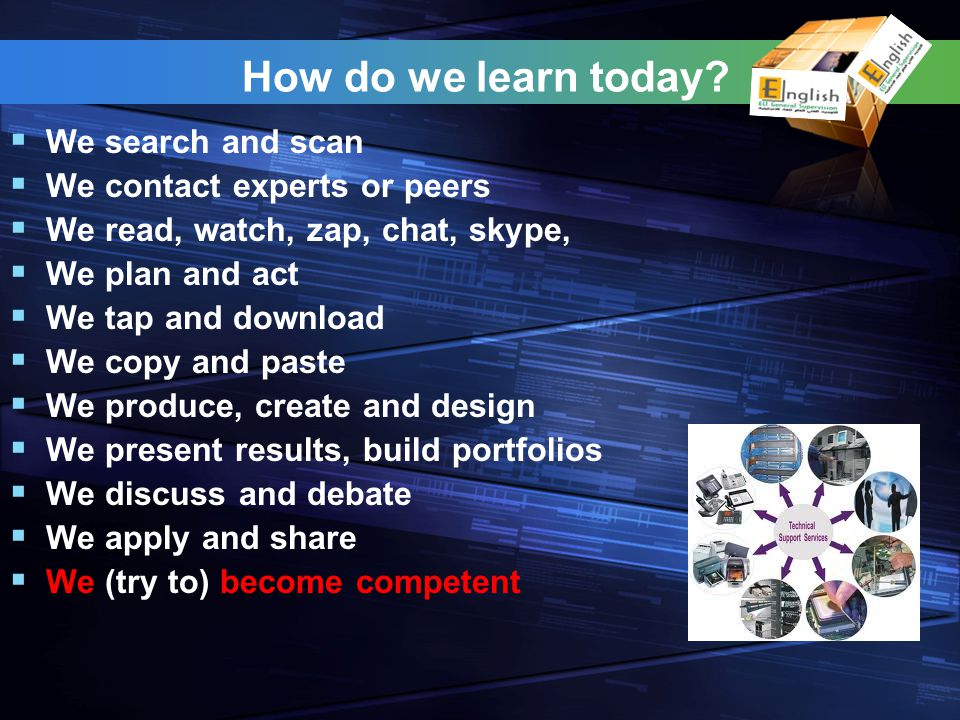 How do we learn today.