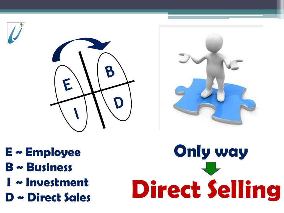 Direct Selling Only way D I B E E ~ Employee B ~ Business I ~ Investment D ~ Direct Sales